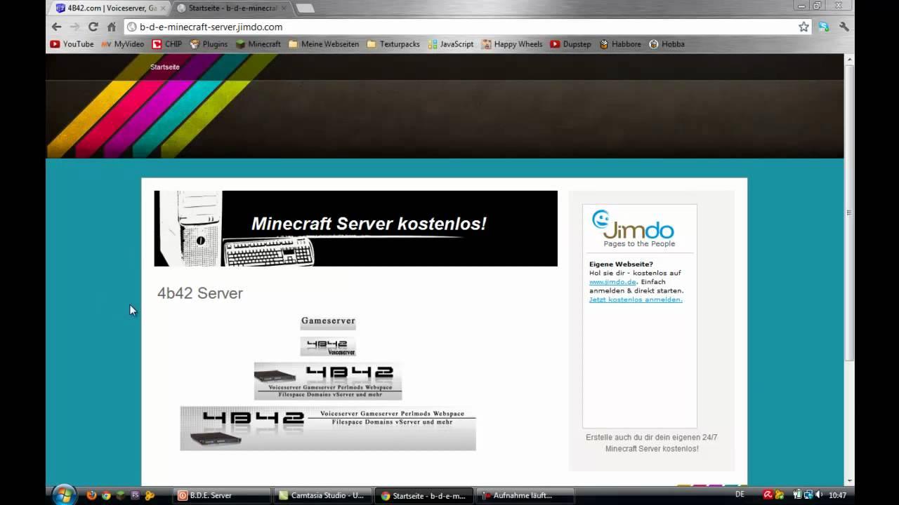 Eigenen Server Erstellen KostenlosHD YouTube - Minecraft server homepage erstellen kostenlos