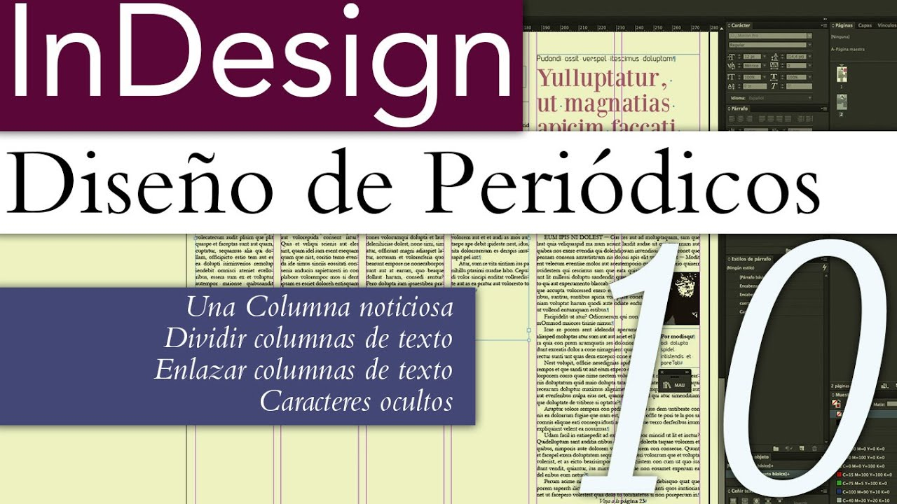InDesign Diseño de Periódicos 10 - Columna noticiosa - YouTube