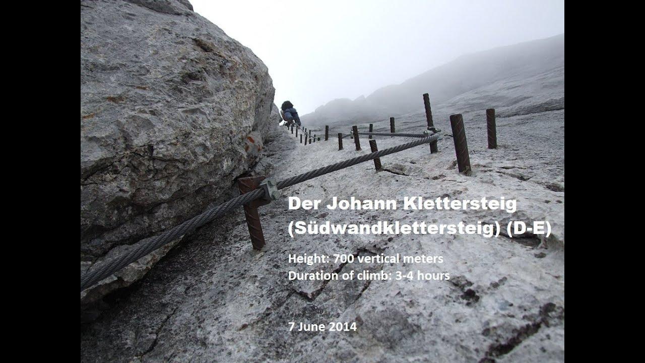 Klettersteig Johann Dachstein : Der johann klettersteig d e dachstein snowy climb in june youtube