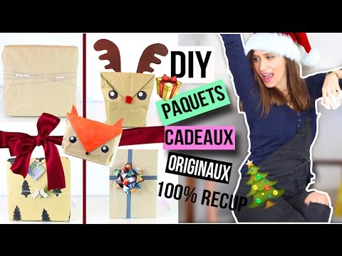 diy noel paquet cadeau original wrapping paper christmas emballage francais youtube. Black Bedroom Furniture Sets. Home Design Ideas