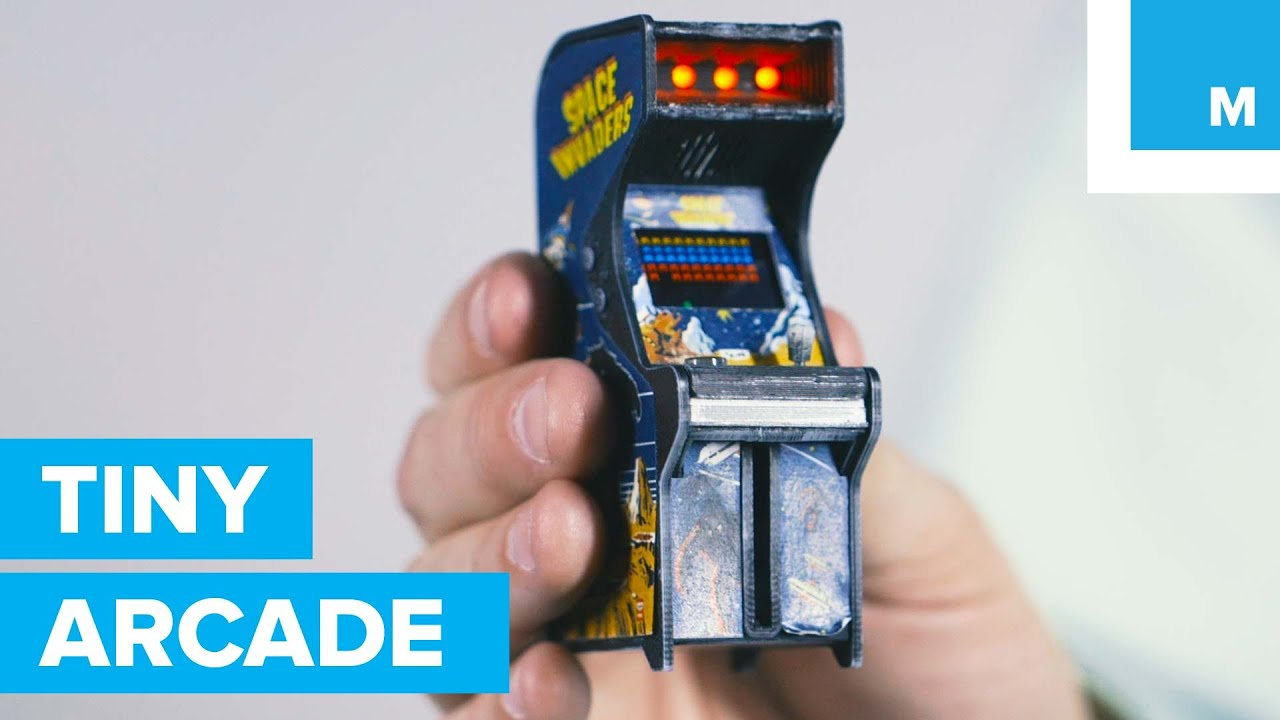 Old-School Arcade Cabinet Fits in the Palm of Your Hand | Mashable ...
