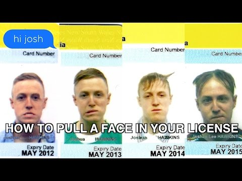 How to Pull a Face in Your Licence Photo