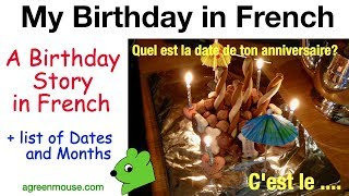 My Birthday in French - Story for Children