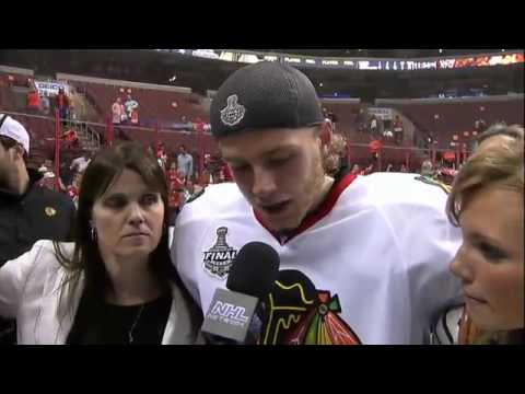 Patrick Kane interview after winning the Stanley Cup