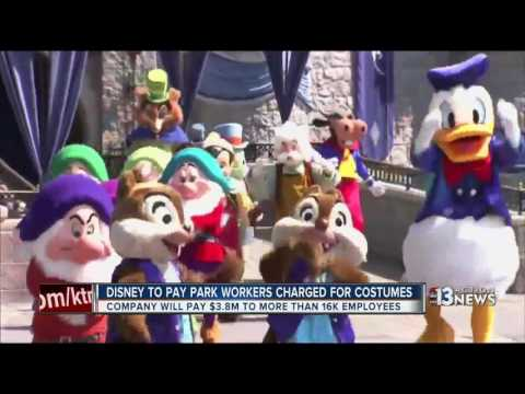 Disney paying back workers charged for costumes
