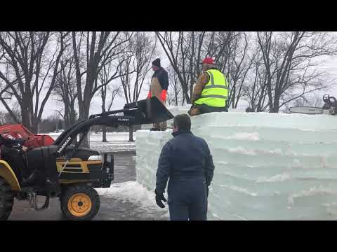 Ice castle constructed in Mayville
