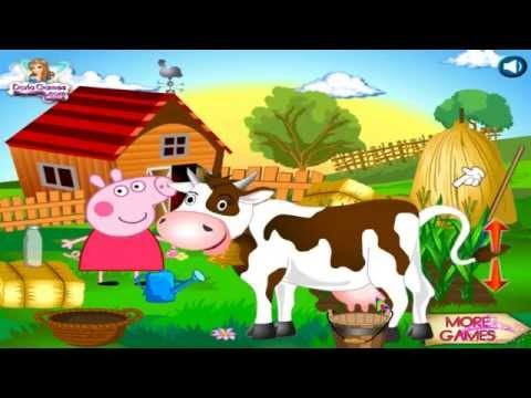Watch Peppa Pig Farm Game ♡Top Peppa Pig Games for Kids♡ 2015 free Games to Play online - 동영상