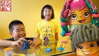 Play-Dohプレイ・ドー ヘアカットセットであそぶせんももあい