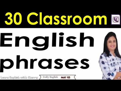 English Phrases for Classroom - Daily English Speaking - Part  63 - Learn English In Hindi - #cherry