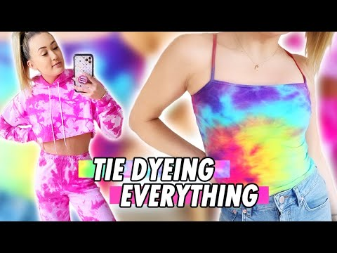 Tie Dyeing Everything In My Closet Cuz I'm Stuck At Home