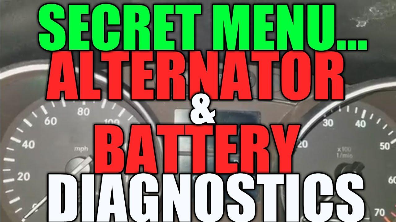 Mercedes Battery Alternator Check Via Secret Menu Easy Fast Benz C240 Fuse Diagram