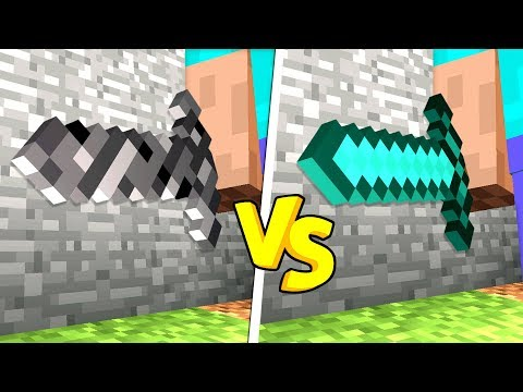 BEDROCK SWORD vs DIAMOND SWORD IN MINECRAFT!