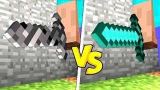 BEDROCK SWORD vs DIAMOND SWORD IN MINECRAFT!