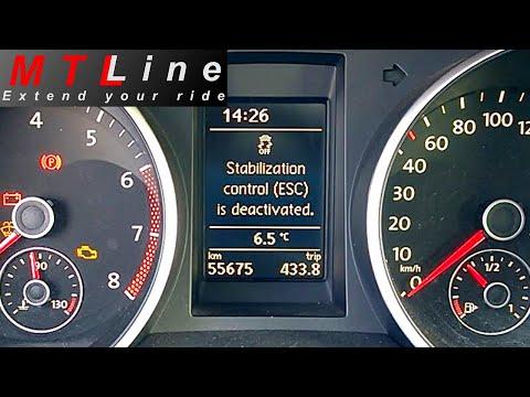 VW Golf 6 MY2011 - full ESC system deactivation - izključitev ESP
