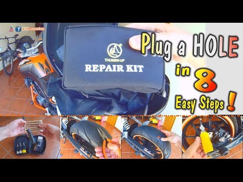 Do you have a TIRE hole? Repair Kit How To Use 8 Easy Steps - Tutorial How To Plug a Hole in 8 Steps