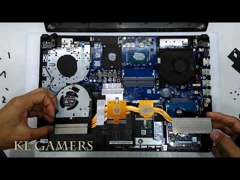 ASUS Notebook Laptop Model FX504G Disassemble And Vacuum Clean Dust Replace Thermal Paste 2019