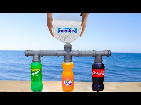 Experiment: Coca Cola & Fanta & Sprite VS Mentos