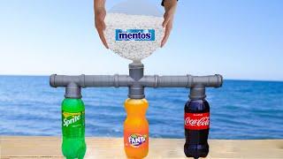 experiment: Sprite Vs Fanta Vs Mentos vs Coca Cola Catch Big  Komodo Dragon From Deep Hole