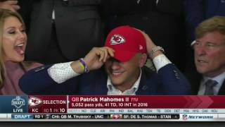The Chiefs select Patrick Mahomes