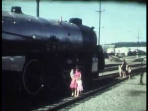 Royal Hudson Steam Train Trip From Vancouver To Squamish BC Canada June 1985