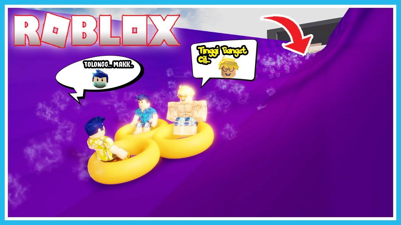 DUO CUMI PEROSOTAN AIR TERTINGGI WATERPARK DIROBLOX!! ROBLOX BANG CUPU