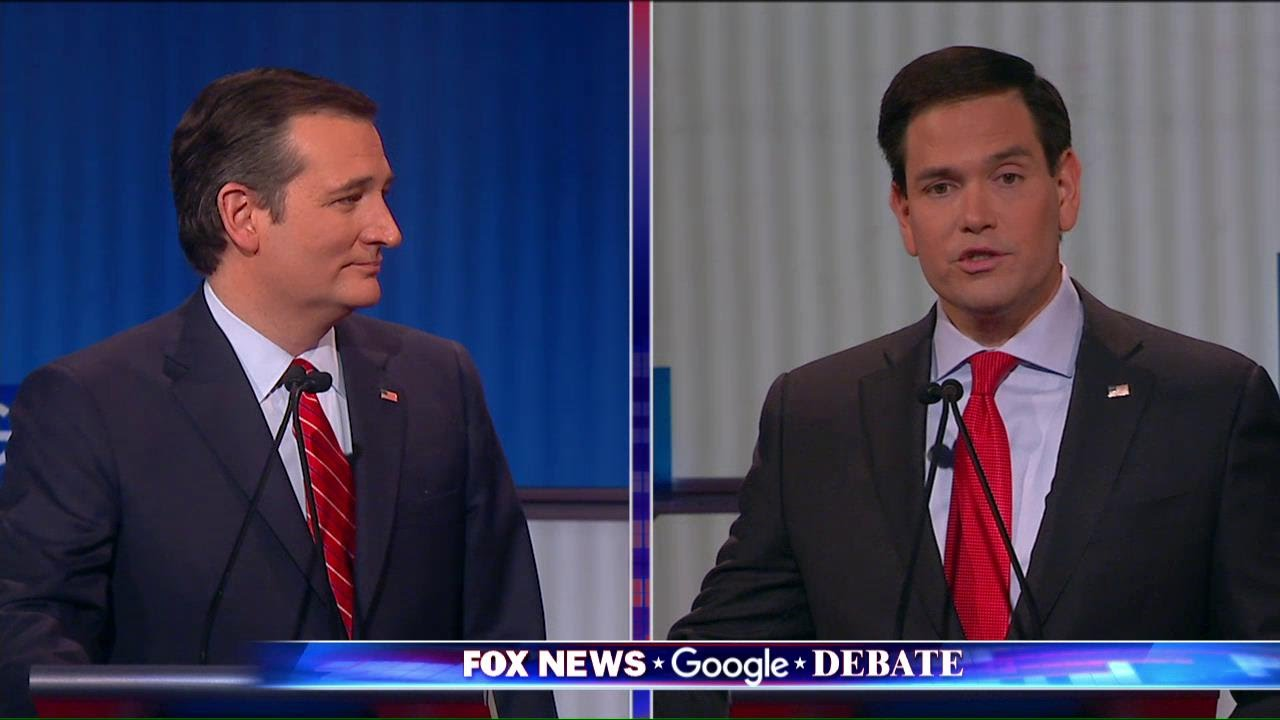 GOP Debate Rubio and Cruz Clash on Records About Illegal Immigration