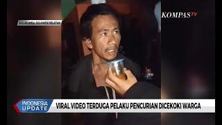 Viral!  Video Terduga Pelaku Pencurian Dicekoki oleh Warga