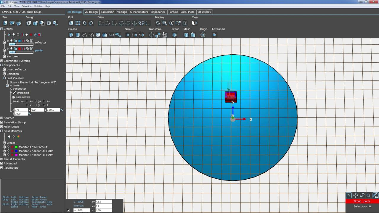 EMPIRE XPU: Reflector Antenna design (Tutorial) - YouTube