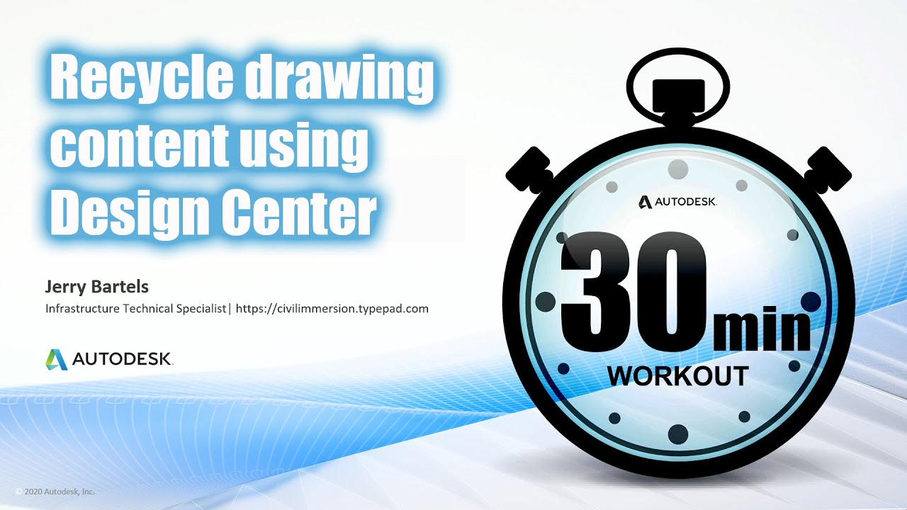 Recycle drawing content using Design Center in AutoCAD / Civil 3D