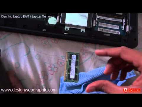 How to Clean Laptop RAM | Remove Laptop Memory | Lenovo G580 Cleaning RAM Video
