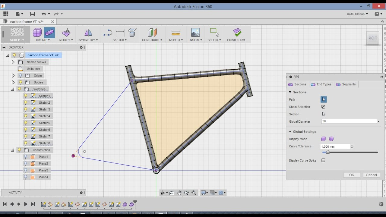 how to make geometric shape in fusion 360