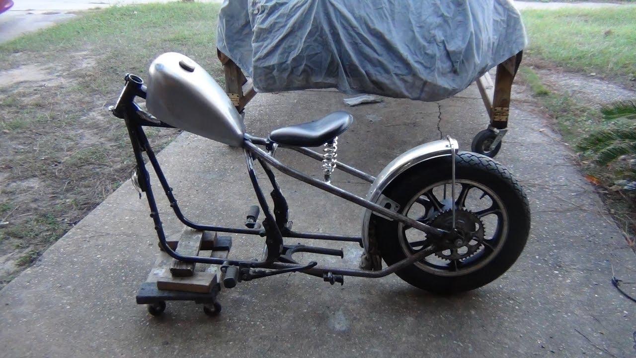 KZ440 Custom Part 4 - Seat and Tank - YouTube