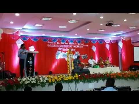 V.Ponraj Speech in 29th college day function of SA Raja Pharmacy college's on 11.4.17