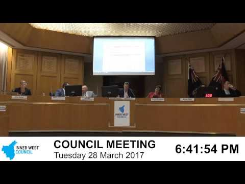 Inner West Council | Council Meeting | 28/03/2017
