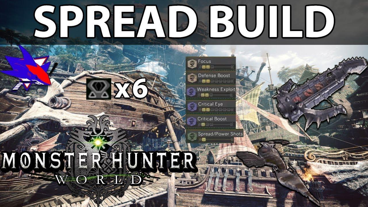 Monster Hunter World Light / Heavy Bowgun Spread Build - RBS