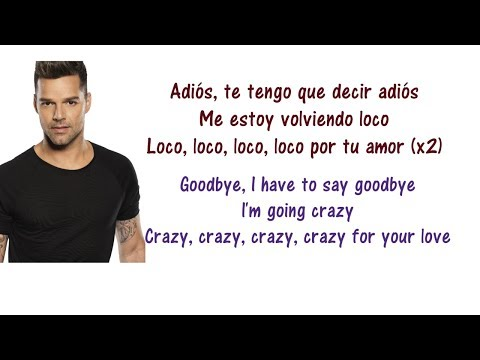 Ricky Martin - Adiós Lyrics English and Spanish & and a little bit of French