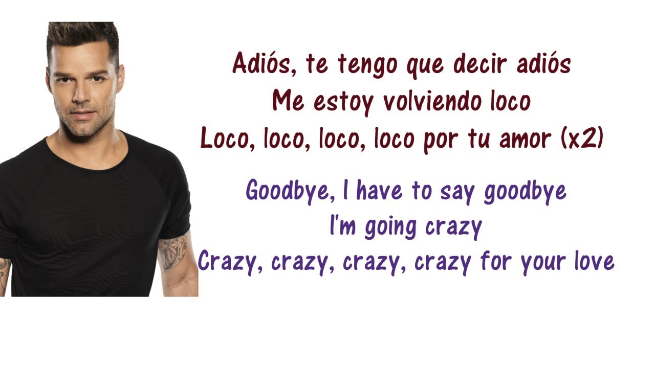 Ricky Martin - Adiós Lyrics English and Spanish & and a little bit of French