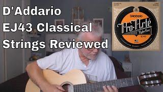D'Addario Pro-Arte EJ43 Light Tension Nylon Guitar Strings Review