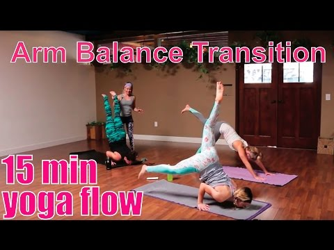 15 Minute Yoga Class Arm Balance Transition Flow