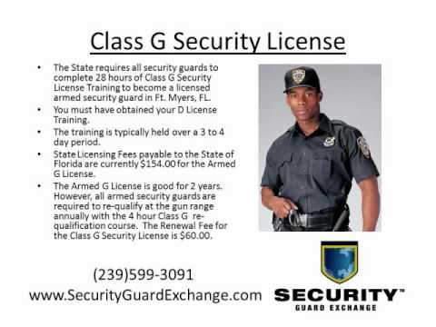 Florida Class G Security License Ft  Myers