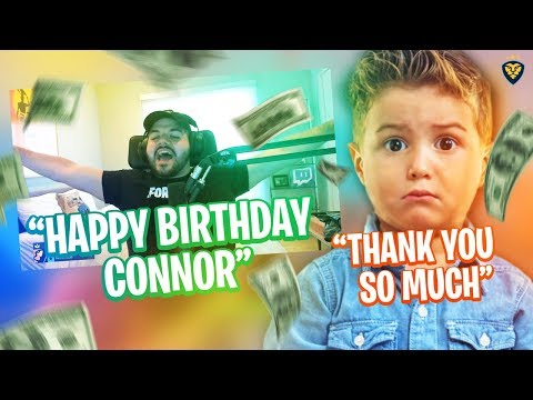 COURAGE SENDS CONNOR A BIRTHDAY GIFT! HE ALMOST CRIED! (Fortnite: Battle Royale)