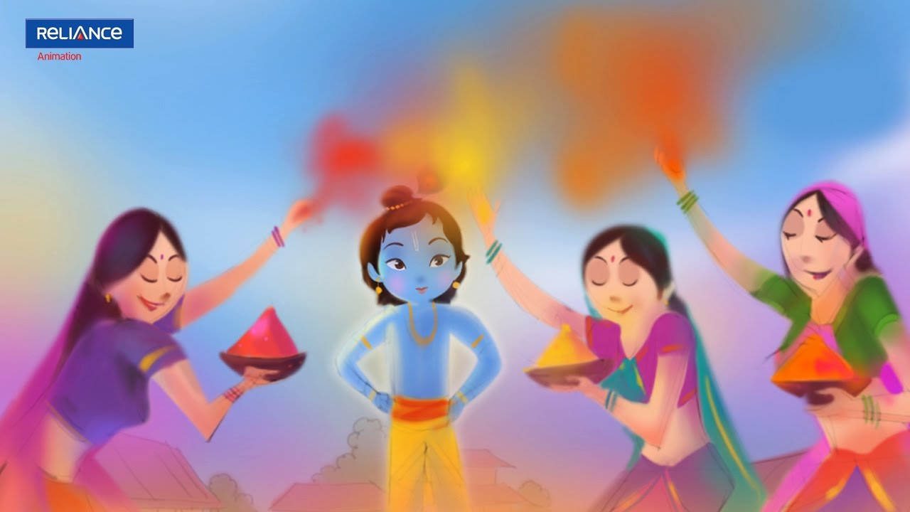 Holi Song Krishna Big Animation