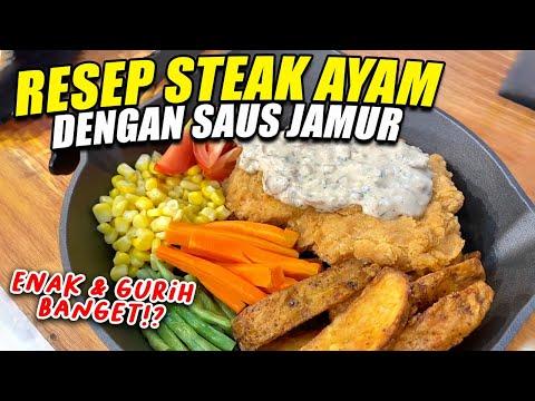 resep-steak-ayam-saus-jamur