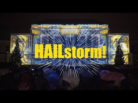 HAILstorm! - Projection Mapping on Rackham Building for University of Michigan Ann Arbor, MI, USA