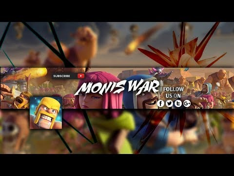 How To Make Clash Of Clans  Gaming Channel Banner On Android | Photoshop Touch