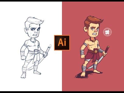 Adobe Illustrator Process | Khmer Warrior Character Illustration.