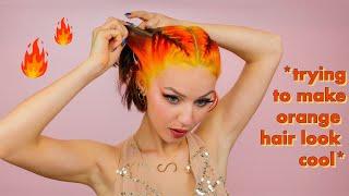 Styling my Orange hair until it looks cool