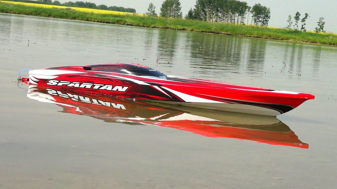 RC ADVENTURES Traxxas Spartan First Run 4S Lipo Radio Controlled Boat