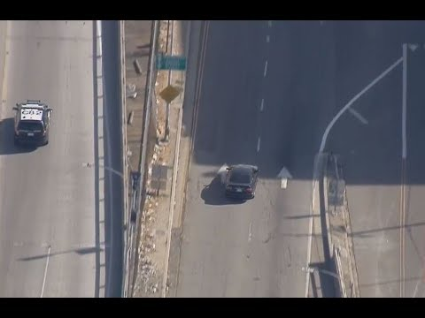 Police Pursuit Of A Stolen Vehicle At High-speeds In West LA