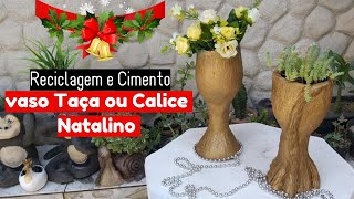 DIY - COMO FAZER VASO TAÇA OU CÁLICE DE NATAL